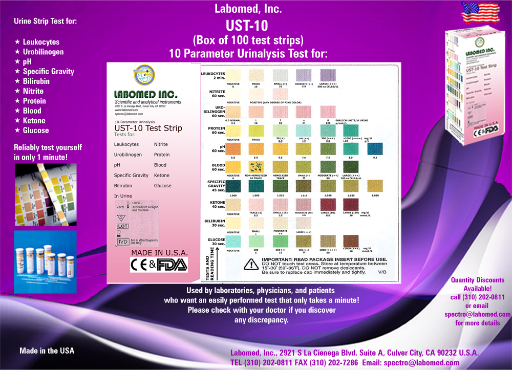 UST-10 Urinalysis Test Strips | Labomed, Inc